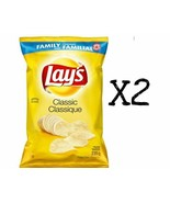 2x Bags Lays CLASSIC Regular Chips LARGE Family Size 235g From Canada FRESH NEW - $17.81