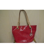 Michael kors jet set mid tote handbag assorted leather - $133.60