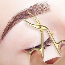 3 Pack Eyebrow Tweezers, Scissors Shaped Eyebrow Straight Tip Tweezers Clip, Fla image 5