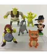 Shrek McDonalds 6pc Lot Toys Donkey Princess Fiona Ogre Baby Puss In Boots - $26.68