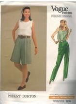 2295 Uncut Vogue Cartamodello Misses Robert Burton Top Pantaloncini Pant... - $9.96