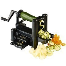 Vegetable and Fruit Cuter, Spiral Slicer, Spiralizer w/ 3-Blade and free... - €16,08 EUR