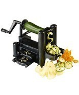 Vegetable and Fruit Cuter, Spiral Slicer, Spiralizer w/ 3-Blade and free... - $19.79