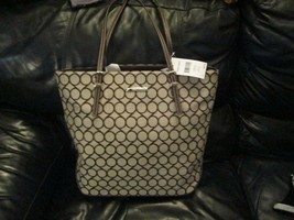 Nine West Ladies Blake Brown Tote handbag Brand New - $55.00