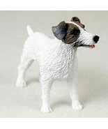 JACK RUSSELL TERRIER (BROWN WHITE ROUGH) DOG Figurine Statue Hand Painte... - $19.99