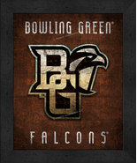 """Bowling Green State Falcons """"Retro College Logo Map"""" 13 x 16 Framed Print  - $39.95"""