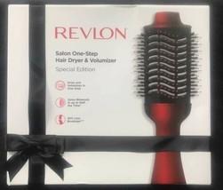 Revlon One Step Hair Dryer & Volumizer Brush Black red special edition No Box - $39.55