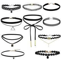 Black Velvet Choker Necklace Tattoo Lace Collar Women Jewelry - $192,68 MXN