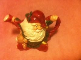 Fitz & Floyd -- Christmas PITCHER--SANTA----CERAMIC--RARE DESIGN--FREE SHIP--VGC - $39.10