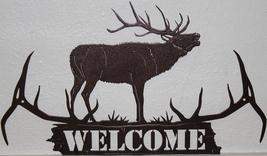Elk Antler Welcome Metal Wall Art  Home Decor - $40.00+