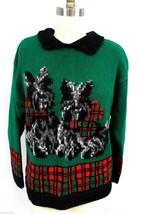VTG Talbots Woman Hand Knit Intarsia Sweater Scottie Dogs PM  Scottish T... - $52.17