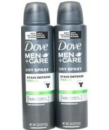 2 Dove 3.8oz Men Care Stain Defense Fresh 48 Hr Protect Dry Spray Antipe... - $20.99