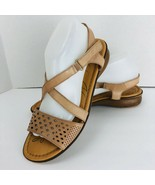 Naturalizer Janessa Gingersnap Beige Leather Strappy Sandals Size 10 N S... - $39.59