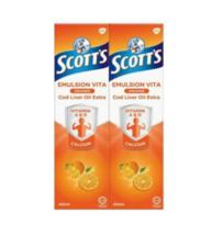 12 X Scott's Emulsion Cod Liver Oil Orange flavor 400ml For Children DHL... - $143.89