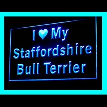 210125B I Love My Staffordshire Bull General Versatile Pleasant LED Ligh... - $18.00
