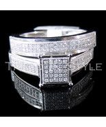 Ladies 0.33CT Real Diamond White Gold Fn Duo Se... - $296.99
