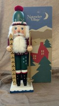 Vintage 1995 Old World Skier Nutcracker Village #540004 Christmas Decor ... - $45.50