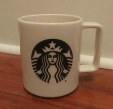 Starbucks Coffee Mug 2015 Black Siren Mermaid Logo Off White Made in USA... - $15.85