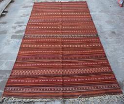 HR, 4'5 x 8'9 Vintage Afghan nomadic Kilim Tribal Turkish wool Antique R... - $393.30