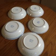 "5 Vintage Chinese Blue & White Rice Eyes Flower Pattern Low Bowl 6 "" Rice Bowls  image 4"