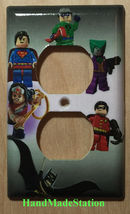 Lego Superhero Characters Light Switch Power Outlet Wall Cover Plate Home Decor image 2