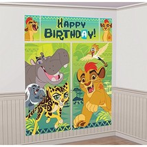 Amscan Disney The Lion Guard Scene Setters Wall Decorating Kit, Birthday - $8.03