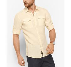 New Mens Michael Kors Slim Fit Dual Pocket Convertible Sleeves Shirt Xl $129 - $39.59