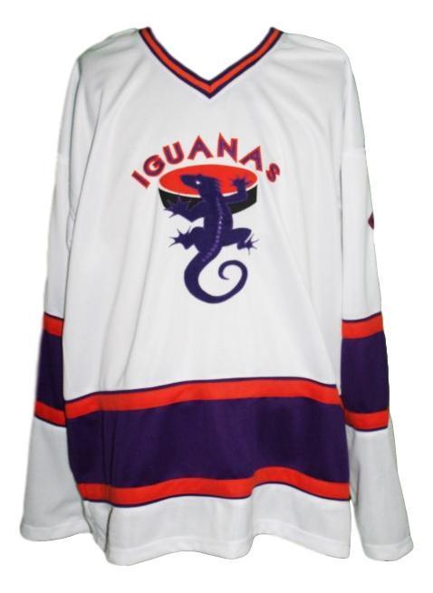 San antonio iguanas retro hockey jersey white   1