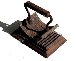 1866 antique 2pc WHITFIELD CAST SAD IRON CRIMPER FLUTER collar,fabric,cu... - $124.95