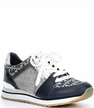 Michael Kors MK Women's Billie Trainer Sneaker Navy/White Size 6 NIB - $130.00