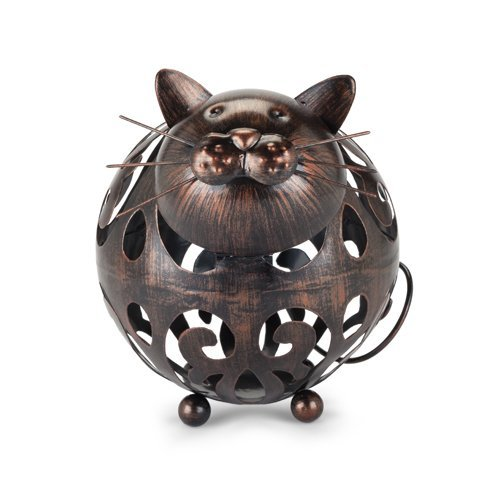 Cork Holders, Whiskers Cat Tabletop Decorative Metal Rustic Animal Cork Holder
