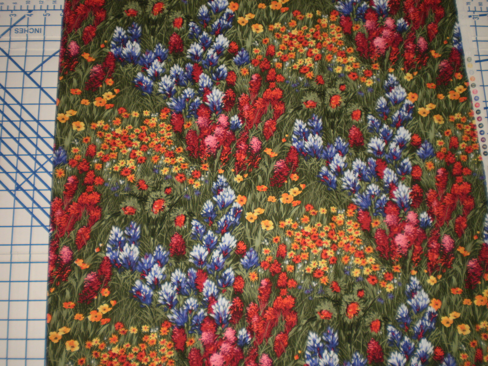 "Michael Miller WILDFLOWERS 35"" Long OOP Wild Flower fabric"