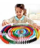 Multicolored Dominos Children Educational Rainbow Coloured Games Toys 12... - $13.85
