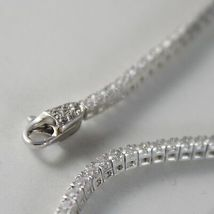 SOLID 18K WHITE GOLD TENNIS BRACELET WITH ZIRCONIA 2.75 CARATS MADE IN ITALY image 3
