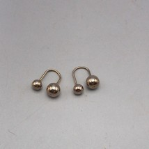 Vintage Silvertone Earrings 1980's 1990's - $12.86