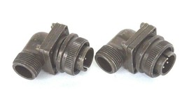 LOT OF 2 NEW AMPHENOL MS3108A14S-2P CIRCULAR CONNECTOR PLUGS SIZE 14S