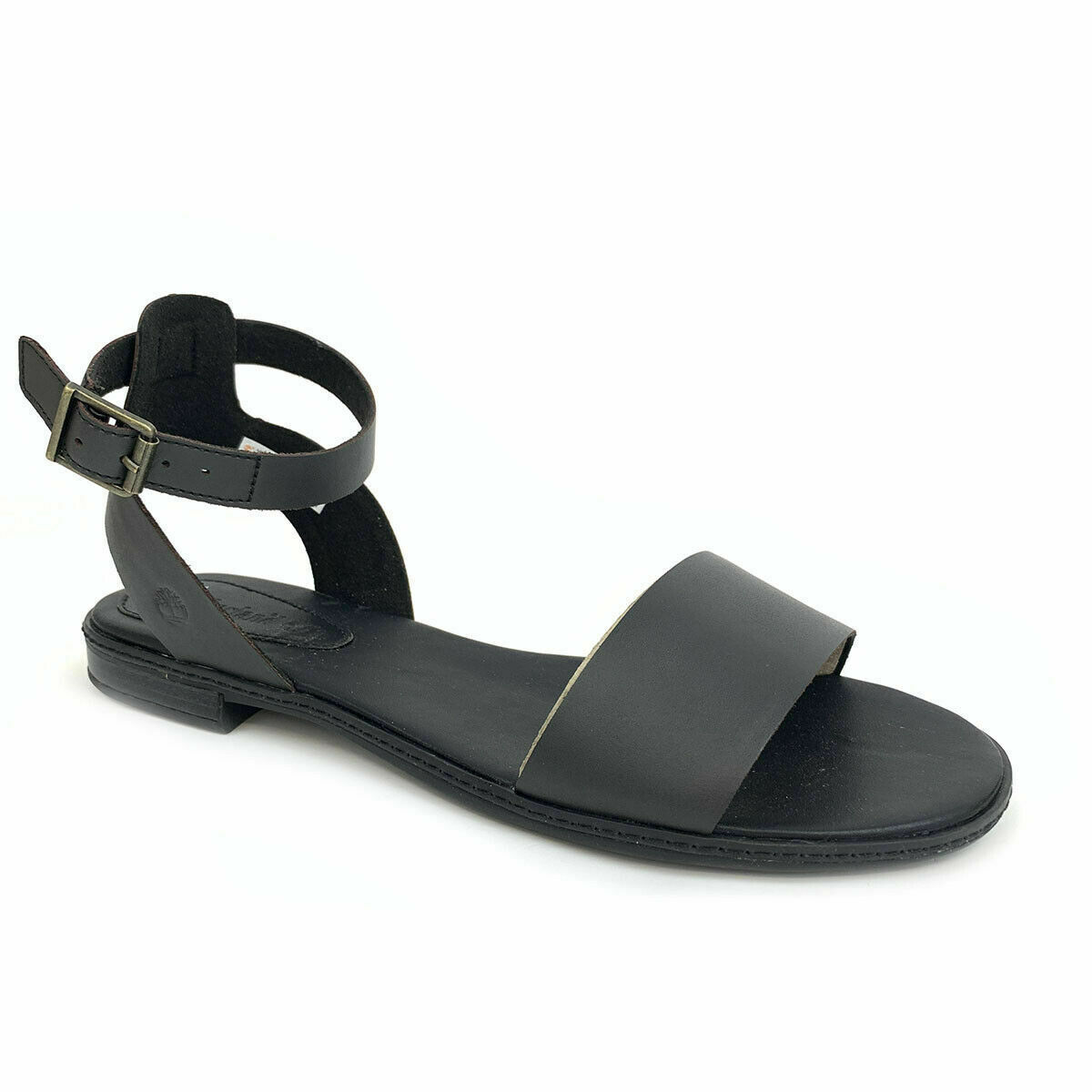 Primary image for Timberland Women's Cherrybrook Black Leather Sandals A1OZ3
