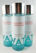 (6) Bath & Body Works Water Collection Aqua Burst Body Wash Vitamin E Be... - $56.98