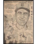 Johnny Pesky Red Sox Sports Cartoon Newspaper Vintage Clipping Baseball ... - $12.99