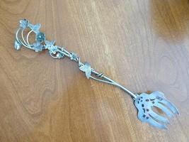 """1889 Arts & Crafts JKC Sweden Swedish Sterling Silver Serving Fork 8 5/8"""" - $149.99"""