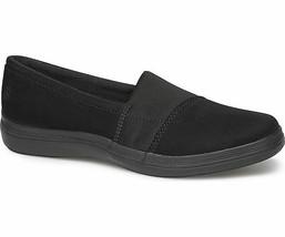 Grasshoppers EF58334 Siesta Microsuede Women's slip-on sneakers Black Size 5 W - $34.60