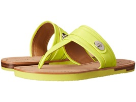 COACH Eileen  Leather Lime  Sandals,Sz 8 - $53.99