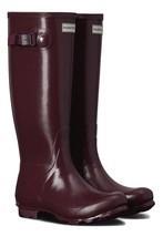 HUNTER ORIGINAL TALL NORRIS FIELD RASPBERRY GLOSS WELLINGTON BOOTS Welly... - $2.135,48 MXN