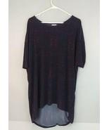 Lularoe Womens Short Sleeve Dress Simply Comfortable Purple Spring Desig... - $14.01