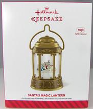 SANTA'S MAGIC LANTERN Magic Light & Sound 2014 Hallmark Christmas Orname... - $15.71