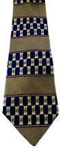 Perry Ellis Portfolio Necktie Tie Silk Blue Yellow Red Geometric Pattern... - $6.99