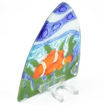 Fused Art Glass Clown Fish Ocean Marine Nightlight Night Light Handmade Ecuador image 4