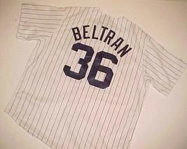New York Yankees Carlos Beltran #36 MLB AL White Blue Pinstripe Jersey XL New - $89.09