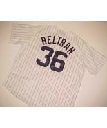 New York Yankees Carlos Beltran #36 MLB AL White Blue Pinstripe Jersey X... - $89.09