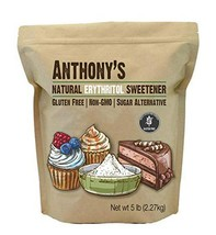 Anthony's Erythritol Granules, 5 lb, Non GMO, Natural Sweetener, Keto an... - $27.99